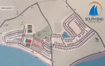 Map of South End Caravan Park